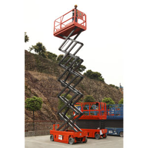 12m High Self Propelled Hydraulic Scissor Lift