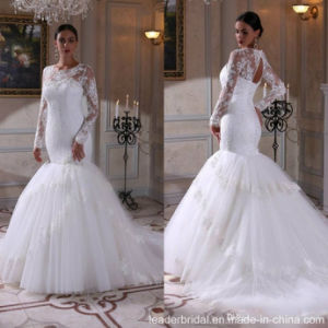Long Sleeves Bridal Formal Gown Mermaid Lace Wedding Dresses G17688 pictures & photos
