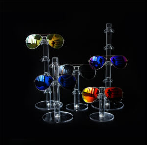 Countop Acrylic Eyewear Stands, Sunglasses Display Stands, 1 Pair to 6 Pairs pictures & photos