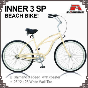 26 Inch Inner 3 Speed Beach Cruiser Bicycle (ARS-2612S-2) pictures & photos