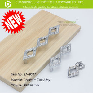 Rhombic Zinc Jewelry Furniture Wardrobe Pull Handle pictures & photos