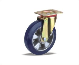Rubber Medium Heavy Duty Heavy Duty Trolley Caster Wheels pictures & photos