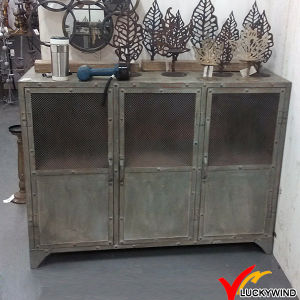3 Doors Rivet Old Aged Vintage Industrial Metal Cabinet pictures & photos