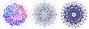 Beautiful Printing Round Yoga Mat Eco-Friendly Machine Washable Durable Mat pictures & photos