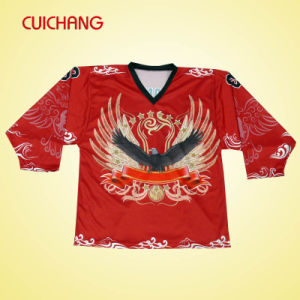Breathable and Cool Dry Ice Hockey Jerseys (AI-007) pictures & photos