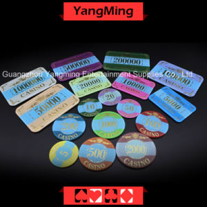 Crown Bronzing Poker Chip with UV Light (YM-CP003-004) pictures & photos