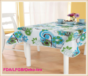 PVC Tablecloth with Flannel Backing (TJ0063) pictures & photos