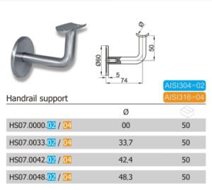 Simple Design Common Using Handrail Support (HS07.02/04) pictures & photos