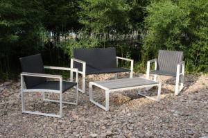 Simple Rattan Lounge Sofa Set Garden Patio Outdoor Furniture (FS-4110+FS-4111+FS-4112) pictures & photos