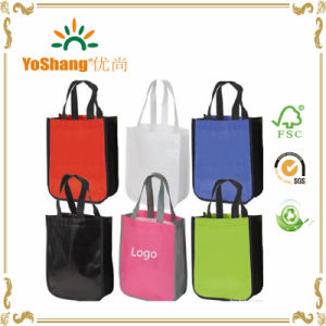 Laminated PP Non Woven Tote Shopping Bag / Non Woven Bag with Round Corner pictures & photos