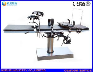 ISO/Ce Approved High Quality Fluoroscopic Hospital Surgical Manual Operating Tables pictures & photos