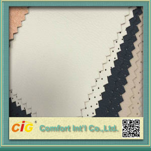 Wet PU Leather De90 Plain & Dots pictures & photos