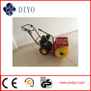 Self-Propelled Hand Push Walk Behind 6.5HP Road Sweeper with Gasoline