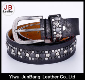 Lady′s Fashion PU Belt with Rivets pictures & photos