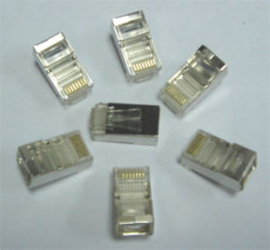 Gold Plated 8p8c Cat5 CAT6 RJ45 Connector pictures & photos