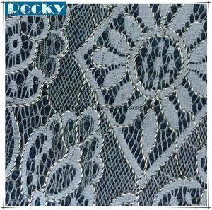 Fashion Elastic Spandex Jacquard Lace Fabric pictures & photos