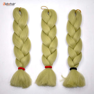 100% Kanekalon Jumbo Braid Synthetic Hair Yellow Electric Color Extension Lbh 104 pictures & photos