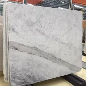 High Quality Polished Natural Snow Flower White Marble Slabs pictures & photos