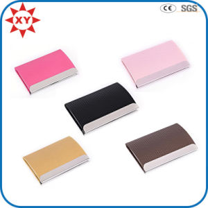 Custom Color Laser Logo Leather Card Holder for Gifts pictures & photos