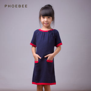 Phoebee Wholesale Children Dress Girls Knitwear pictures & photos