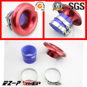 Alloy RAM Pipe Air Inlet Intake Funnel Duct 3/3.5inch Red