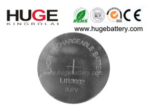 3.6V Lithium Rechargeable Button Cell Lir3032 pictures & photos