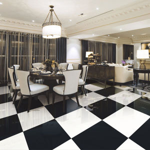 600*600mm Super Black and White Porcelain Floor Ties (TP6001) pictures & photos
