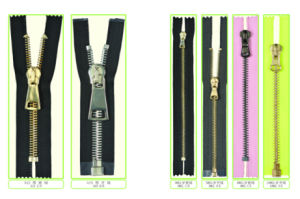 Metal Zipper for Clothing/Garment/Shoes/Bag/Jeans (3#/4#/5#/8#/10#/Y Teeth Type)