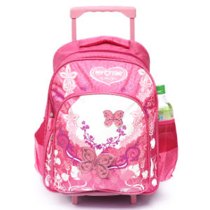 Custom Branding Kindergarden Cute Girl Kids Backpack with Wheels pictures & photos