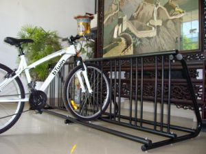 Multi-Functional Powder-Coated Metal Frame Bicycle Rack PV001 pictures & photos