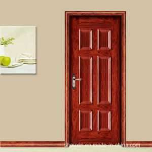 The Popular Red Spell Wooden Steel Door (SX-3-5004) pictures & photos