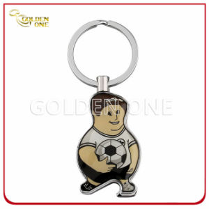 Customized Figure Shape Printed Epoxy Metal Keychain pictures & photos