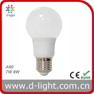A60 7W 8W LED Bulb Ra80 230V pictures & photos