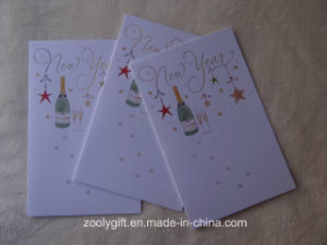 Gold Foil Stamp Printing Greeting Card and Envelop for New Year pictures & photos