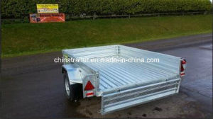New 7X5 Box Trailers with Removable Cage and Mesh Ramp pictures & photos