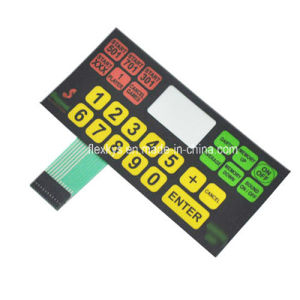 Nontactile Membrane Keypad with Flat Keys for Pitching Machine
