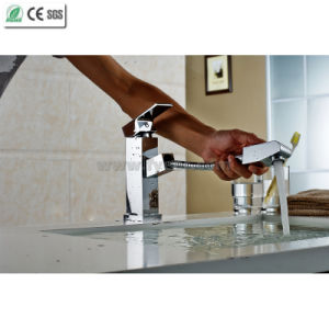 Square Brass Body Pull out Spray Kitchen Sink Faucet (Q13004) pictures & photos