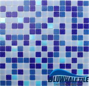 Foshan Factory Commerical Used Swimming Pool Tile Blue Glass Mosaic Supplies