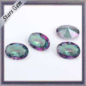 Special Rainbow Color Oval Shape Crystal Glass Gemstone pictures & photos