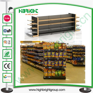 Supermarket Wooden Steel Commercial Racking pictures & photos