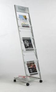 Movable Metal Billboard Magazine Display Stand