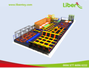 Manufacturer of Customized Indoor Trampoline with Ninjia Course and Foam Pit pictures & photos