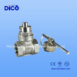 Stainless Steel Water Meter Before Gate Valve with Magnet Locking Handwheel pictures & photos