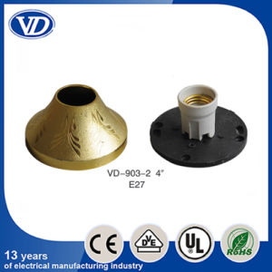 E27 Plastic Ceiling Rose Lampholder with Ceramic Lampholder Inside Vd903-2 pictures & photos