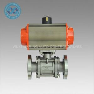 Good Quality Flange End Vacuum Ball Valve with Pneumatic Actuator pictures & photos