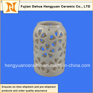 Ceramic Decorative Hollowed-out Canister Lantern Design pictures & photos