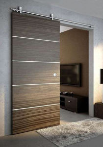Solid Composite Silding Door with Stainless Steel Rail pictures & photos