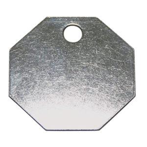"1-1/2""Octagon Blank Metal Tag, Stainless Steel (20Y573)"