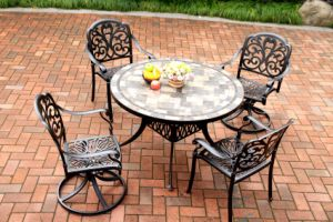 Tile Top Round Table 5PC Outdoor Furniture pictures & photos