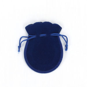 Blue Small Drawstring Velvet Jewelry Pouches (CVB-1082) pictures & photos